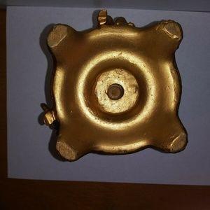 Vintage Accents - VTG Cherubs angels taper candle holder gold tone